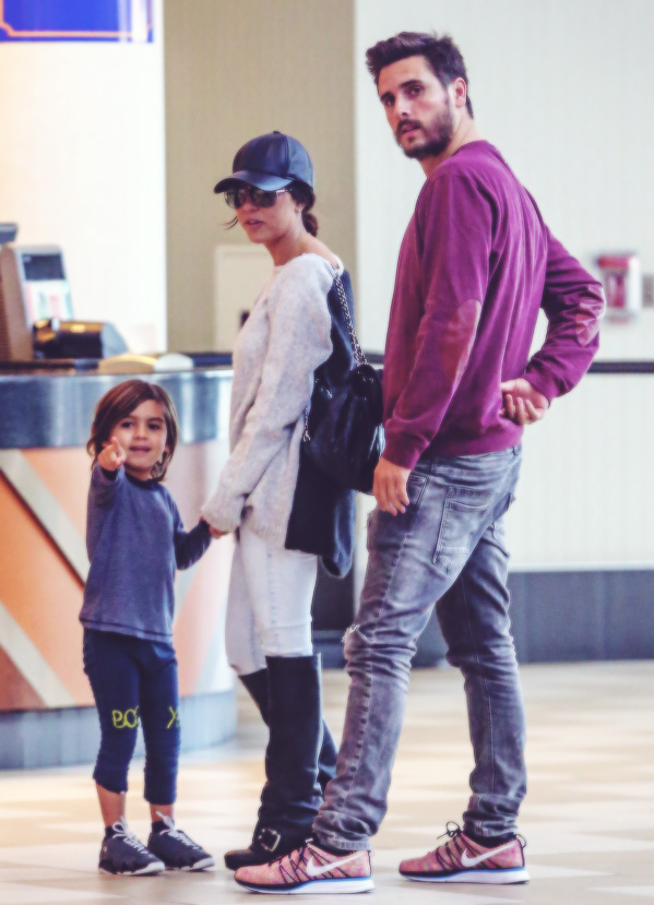 *EXCLUSIVE* Kourtney Kardashian and Scott Disick take Mason to The Lego Movie