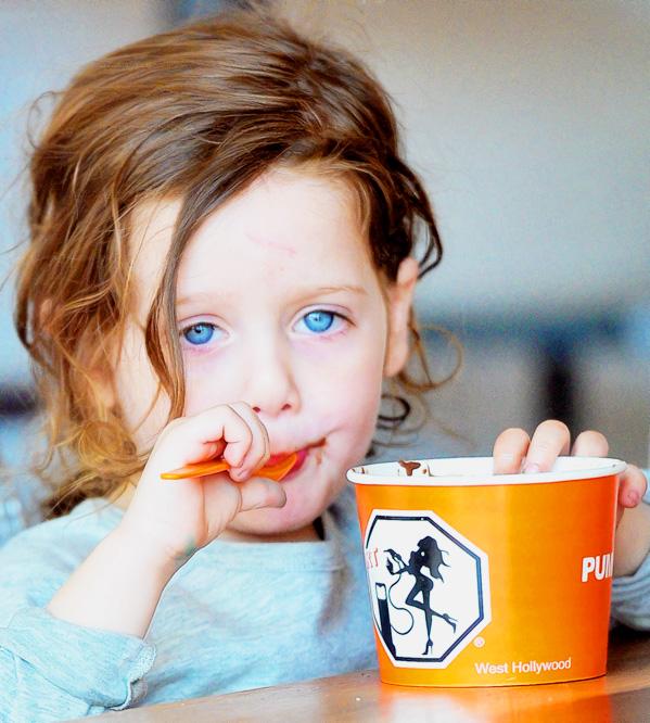 Rachel Zoe takes Skyler for his Daily Dose of Frozen Yogurt